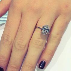 3 carat oval diamond ring from Lauren B Jewelry