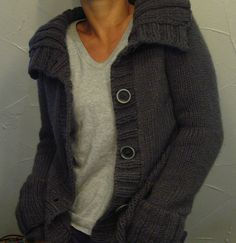 Used to have a black sweater just like this...  lilalu, Ravelry