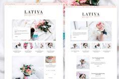 LATIVA - Feminine Blog & Shop Theme by NadaNora on @creativemarket
