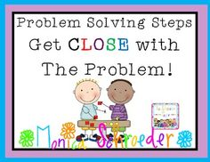 Problem Solving Steps:Have a CLOSE reading with word problems!  Video included!