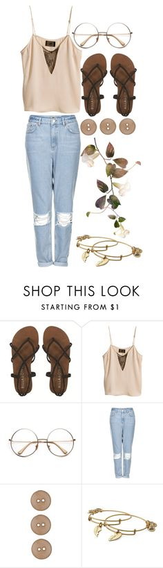 """merry chrysler"" by kianahall ❤ liked on Polyvore featuring Billabong, H&M, Topshop and Alex and Ani"