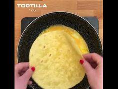 Sajtos Sonkás Tojásos TORTILLA - YouTube Tortillas, Make It Yourself, Youtube, Food, Rapid Weight Loss, Food Plan, Meal, Mince Pies, Essen