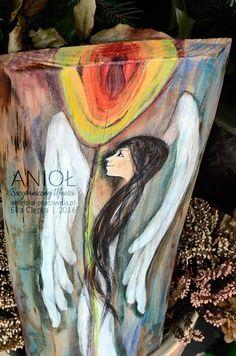 Anioł Bezgranicznej Ufności – to Anioł pełen optymizmu, nadziei i wiary!  Autor - Elka Ciępka www.anielska-pracownia.pl