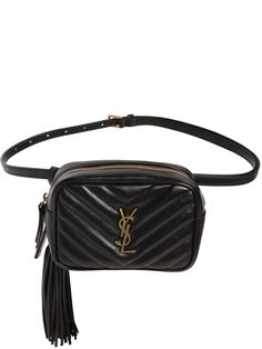 SAINT LAURENT MONOGRAM LEATHER BELT PACK. #saintlaurent #bags #leather #belt bags #