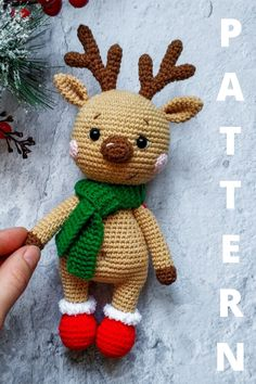 "This pattern is available in English. It consists of 20 pages of the detailed description in the pdf format and contains more than 50 quality photos. This crochet pattern doesn't contain the crocheting lessons. Yoy should have the basic crochet skills. Skill level - easy/beginners. The size of finished toy is approx. 23 cm = 9,1"" with horns ( 18,5 cm = 7,3"" without horns). The hands are movable, can be raised up and lowered."