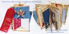 texas altered book - www.tamisanders.com,altered book,altered book class,mini album,mini book,texas book,texas ephemera,texas theme,texas,rustic,western,rodeo