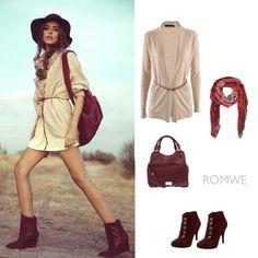 Passion color/Street fashion/ Long cardigan     romwe.com