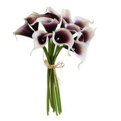 Real Touch Calla Lily bouquets from Afloral.com are a great way to save money on your wedding flowers. Faux callas look and feel so real that false one will believe they aren't fresh! Find great deals at Afloral.com.