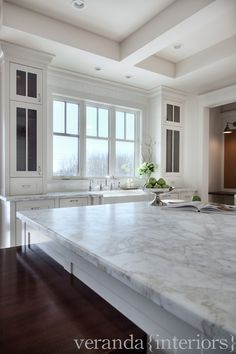 Pretty Marble + Cabinets