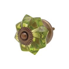 Quirky Green Vintage Glass Knobs