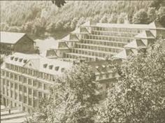 "1918: Daylight for every workplace - and this in a constrained Black Forest valley! At the steepest end of the factory site Arthur Junghans plans a terrace structure that ""climbs"" the slope in nine steps. The long, narrow buildings are conceived in a way that enables the workplaces to receive optimal daylight, allowing the highest precision in manufacturing. http://www.junghans.de/en/junghans-world/journey-through-time/1918.html"
