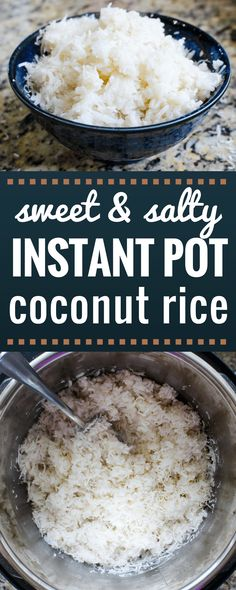 Foolproof sweet & salty Instant Pot coconut rice. Comes out perfectly every time! via @allyscooking