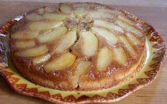 Apple Cinnamon Upside Down Cake: unsalted butter, light brown sugar, apples, lemon juice, all-purpose flour, baking powder, salt, ground cinnamon, granulated white sugar, large eggs, vanilla extract, whole milk