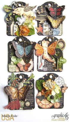 Olde Curiosity Shoppe ATCs from Maria Cole Graphic 45, Atc Cards, Card Tags, Card Kit, Handmade Tags, Candy Cards, Pocket Letters, Paper Tags, Scrapbook Embellishments