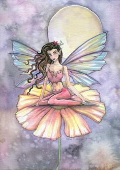 Fairy Art by Molly Harrison The Night is Alive while We are Asleep Fairy Drawings, Kobold, Mermaid Fairy, Unicorns And Mermaids, Fairy Pictures, Beautiful Fairies, Angel Art, Fairy Art, Magical Creatures