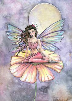 Fairy Art by Molly Harrison The Night is Alive while We are Asleep Beautiful Fantasy Art, Beautiful Fairies, Fairy Drawings, Kobold, Mermaid Fairy, Unicorns And Mermaids, Fairy Pictures, Angel Art, Fairy Art