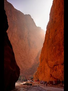 Todra Gorge in Morocco.   #Morocco is the setting of Garment of Shadows, a Mary Russell and #SherlockHolmes #mystery by Laurie R. King.