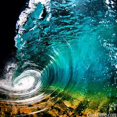 •❈• Night shot by Clark Little - Hawaii ocean wave at night photography