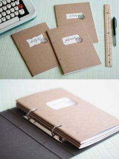Free Paper Organizer projekte mit kupfer 10 DIY Projects for Your Office - Pretty Designs Filofax, Planner Organization, Book Binding, Organizer, Getting Organized, School Supplies, Stationery, Projects, Crafts