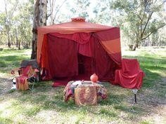 Backyard red tent!!