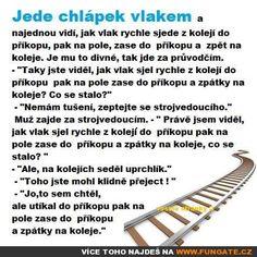 Jede chlápek vlakem a najednou vidí… Humor, Funny Quotes, Jokes, Funny Phrases, Husky Jokes, Humour, Funny Qoutes, Funny Photos, Memes