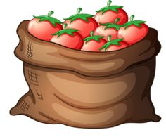 ▬ [Nulled Free]▰ A Sack Of Tomatoes Background Bag Brown Bulk Cartoon Container Fruit And Veg, Fruits And Vegetables, Fruit Nail Art, Fruit Cartoon, Food Clipart, Farm Fun, Fruit Stands, Math For Kids, Food N