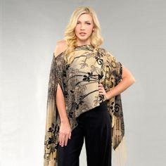 Scroll Flower 7 way convertible Scarf #gold #7wayscarf #scarf #convertiblescarf #versatilescarf #jacketscarf #sarong #halterback #offshoulder #offshoulder #7wayscarf 7 Way Scarf by M/M Couture Www.7wayscarf.com