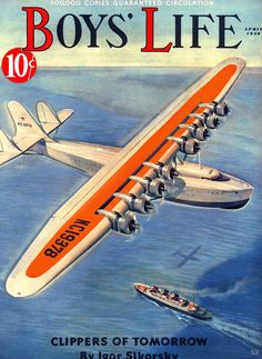 more engines! Vintage Advertisements, Vintage Ads, Vintage Photos, Vintage Magazines, Igor Sikorsky, Horse And Buggy, Flying Boat, Boys Life, Posters