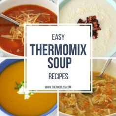 As we ease into the cooler months I'm preparing to stock my freezer with my favourite soups! So I have put together a list of Easy Thermomix Soup Recipes as an easy 'go to' when your looking for something to warm you up this winter. Pumpkin Sweet Potato Soup, Potato Leek Soup, Corn Soup, Pumpkin Soup, Soup Recipes, Dinner Recipes, Cooking Recipes, Savoury Recipes, Yummy Recipes