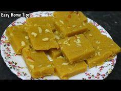 आटे और बेसन की बनाये हेल्दी बर्फी आसानी से 10 मिनट में Atta Besan Barfi Recipe In Hindi Atta Barfi - YouTube