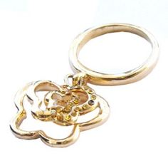 Golden ring with pendant  http://enewmall.com/women-rings/