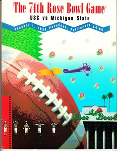 01/01/1988  ROSE BOWL PROGRAM USC VS MICHIGAN ST