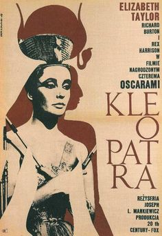 Russian movie poster for Cleopatra (1963), the best version ever made according to yours truly.
