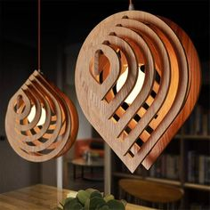 Wooden lamp drop water. Original hanging lamp. Vector plan for laser cutting CNC. Beach House, Beach Houses