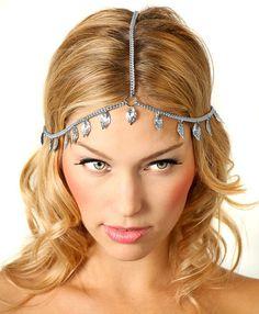 Gouden ketting van Grecian zendspoel / Head sieraden / Boho