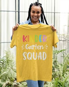 Kindergarten Squad Funny Back To School Teacher Student Gift - Gold lunche for school, back to school havks, back tk school #backtoschooljamaicaprojectinc #backtoschoolbraids #backtoschooltomorrow, dried orange slices, yule decorations, scandinavian christmas Lacrosse Cupcakes, Lacrosse Cake, Lacrosse Gear, School Teacher Student, Student Gifts, Squad, Back To School Highschool, Classic T Shirts, Kindergarten
