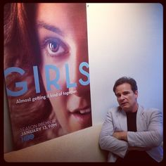 Peter Scolari (aka Hannah's Dad, Professor Tad Horvath) at the #HBO offices. #GIRLS