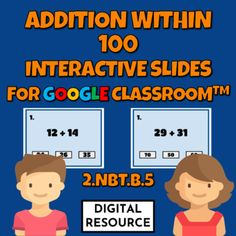 Interactive Google Slides math game covering addition within 100CCSS 2.NBT.B.5 Distance learning2 challenges, 10 multiple choice self-checking problems eachDigital product - no prep!This is a digital product for Google Classroom use.Please purchase this product only if you know how to use it.The Pro... Multiple Choice, Google Classroom, Math Games, Elementary Schools, Distance, Challenges, Learning, Digital, Primary School
