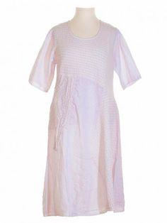 Damen Jerseykleid mit Leinen, puder