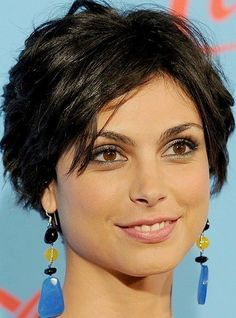 Morena Baccarin short layered haircut