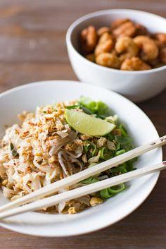 Pad Thai met krokante garnalen