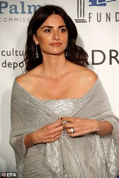 Wrapped up: The Spanish actress, who is nominated for Best Leading Actress in a Movie for ...
