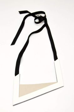 Aumorfia | Polygons | SS14 | U leather necklace | side A