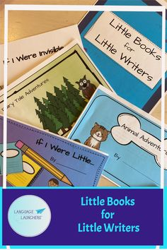 Little Book starters for beginning creative thinkers and early writers. These templates can be used for an individual child or a whole class. School Age Activities, Fun Activities, English Language Learners, Language Development, Conversation Starters, Little Books, Speech And Language, Teacher Newsletter, Writing A Book