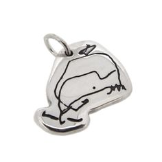 Child's scribbles charm - Whale! by Oliver.