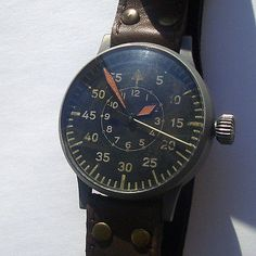 Rare Military GERMAN Big NAVIGATION Watch LACO LUFTWAFFE OFFICERS WWII