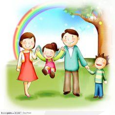 儿童插画 快乐 - Google Търсене Family Drawing, Drawing For Kids, Family Day, Happy Family, Family Album, Global Art, Cute Images, Amigurumi Doll, Cute Illustration