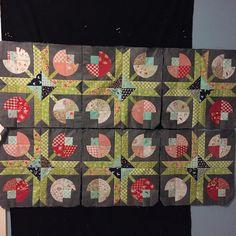 Three to go! Big Block Quilts, Star Quilts, Scrappy Quilts, Mini Quilts, Quilt Blocks, Paper Piecing Patterns, Quilt Block Patterns, Patch Quilt, Applique Quilts
