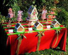 "Photo 4 of 14: Holiday Crafts - Gingerbread Houses! / Christmas/Holiday ""Children's Gingerbread House Decorating Party"" 