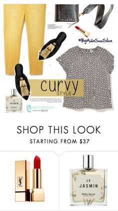 """""""Celebrate Your Shape: Curvy Style"""" by aidasusisilva ❤ liked on Polyvore featuring Yves Saint Laurent, Miller Harris, Sanayi 313, CENA, contestentry, TheCurvyCon and MyDiaStyle"""